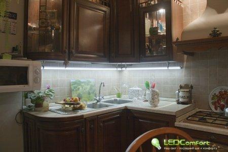 Светодиодное освещение кухни