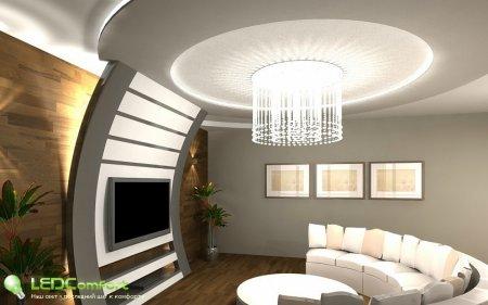 Светодиодное освещение гостиных комнат