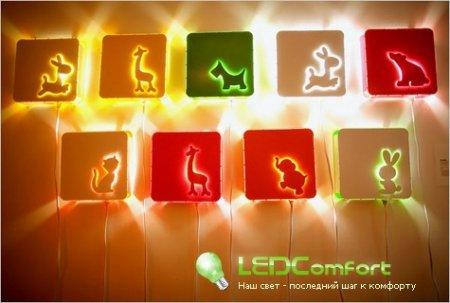Светодиодное освещение детской комнаты