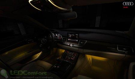 Audi A8: светодиодные фары и подсветка салона