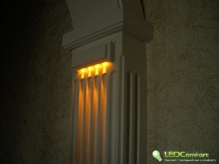 Светодиодная подсветка дверных проемов и арок