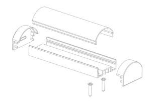 Профиль для светодиодной ленты AluProf 18