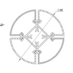 Угловой алюминиевый профиль с угловой и круглой линзой AluProf20