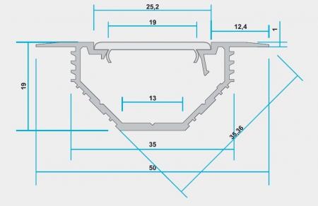 Профиль для светодиодов AluProf 22