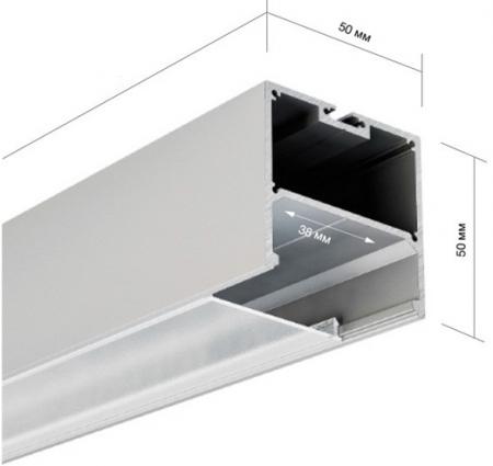 Профиль для светодиодной ленты 50х50мм AluProf25