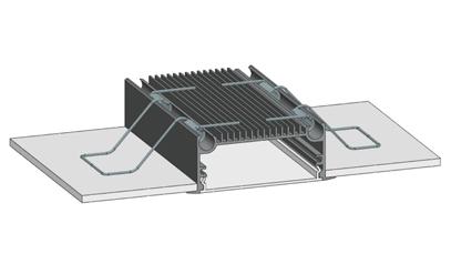 Врезной алюминиевый профиль для светодиодов 70мм.