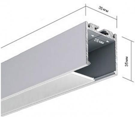 Накладной алюминиевый профиль 35х35мм AluProf 26