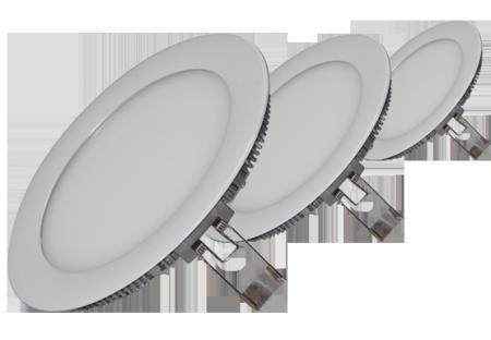 Врезные круглые светодиодные светильники.