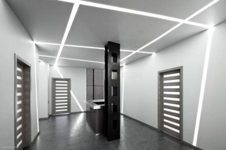 Применение врезного профиля для светодиодного освещения в интерьере.